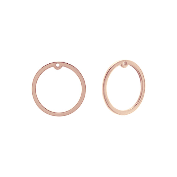 Circle Earring Jackets in 14k Rose Gold