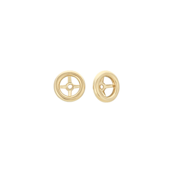 Circle Earring Jackets in 14k Yellow Gold
