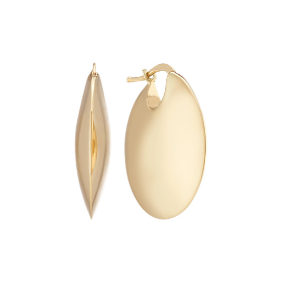 Classic Circle Earrings in 14k Yellow Gold