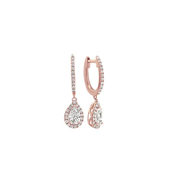 Dangle Diamond Earrings in 14k Rose Gold
