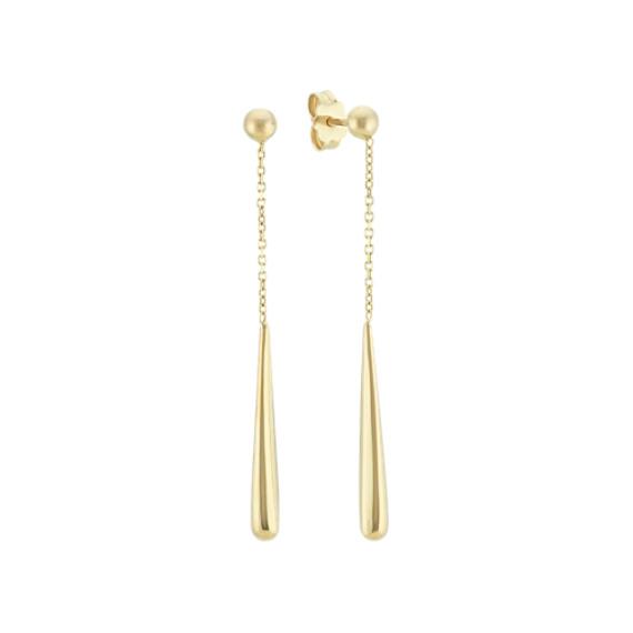 Dangle Drop Earrings in 14k Yellow Gold