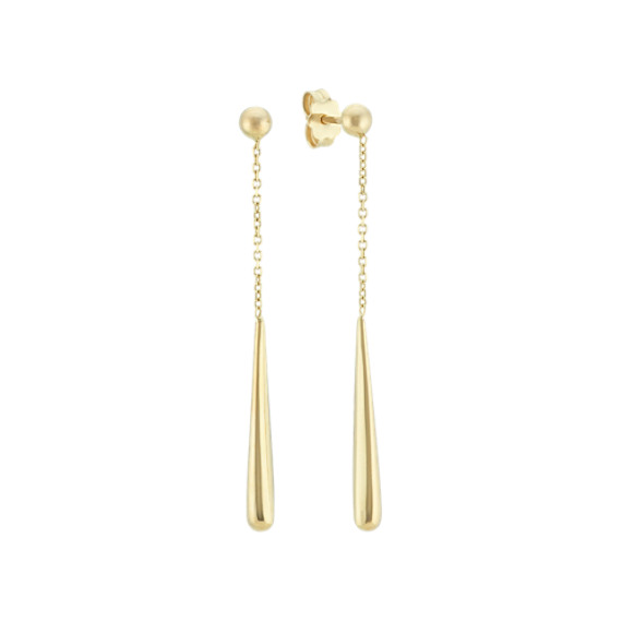 Dangle Drop Earrings in 14k Yellow Gold
