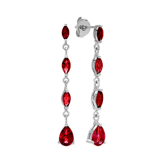Dangle Marquise and Pear-Shaped Garnet Earrings