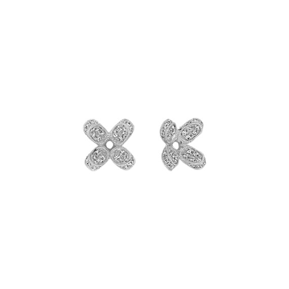 Floral Pavé Diamond Earring Jackets