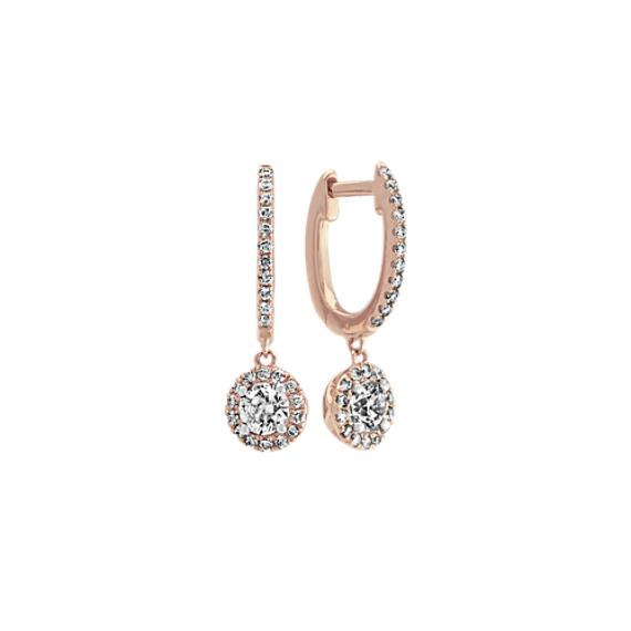 Diamond Drop Earrings in 14k Rose Gold