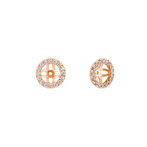 Diamond Earring Jackets in 14k Rose Gold