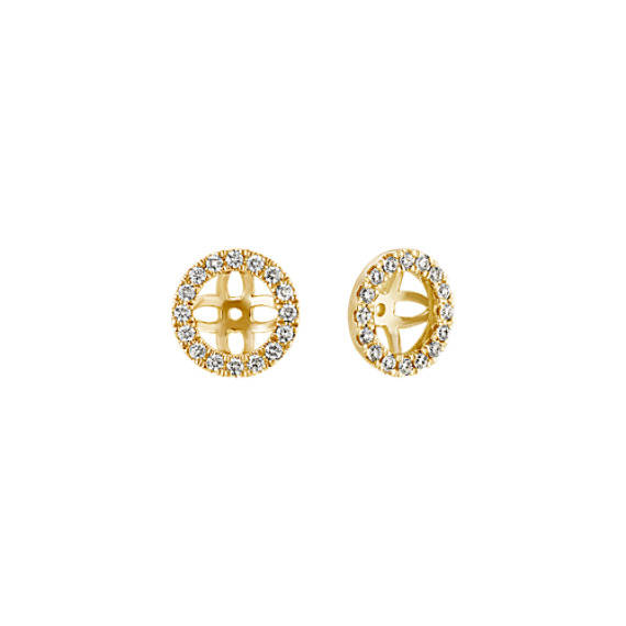 Diamond Earring Jackets In 14k Yellow Gold