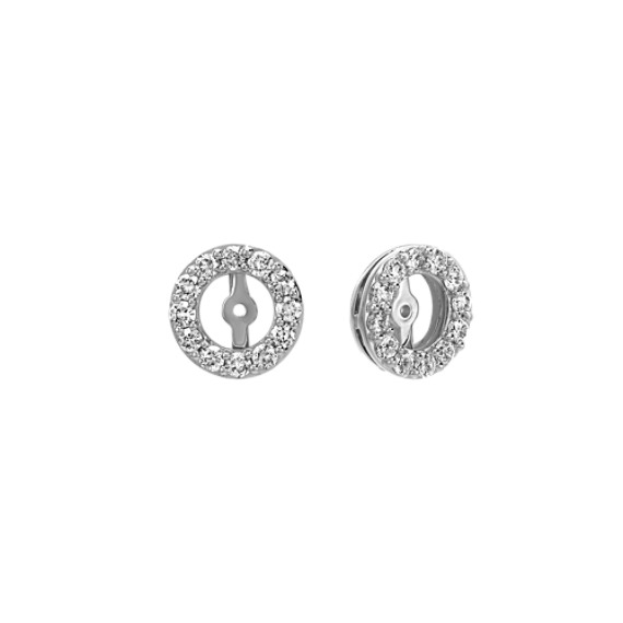 Diamond Earring Jackets in White Gold