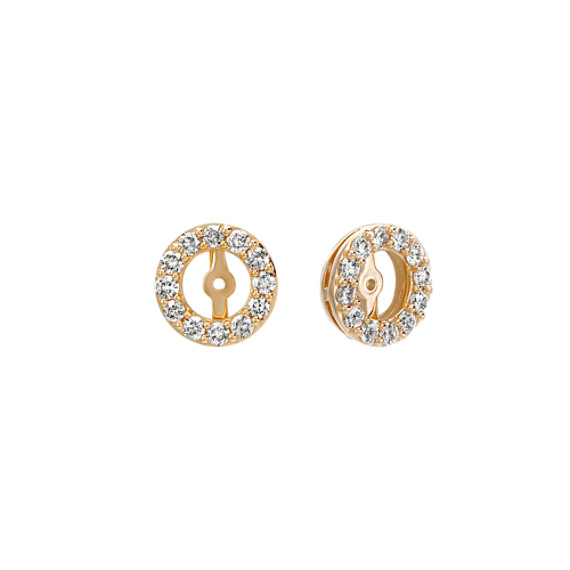 Diamond Earring Jackets in Yellow Gold