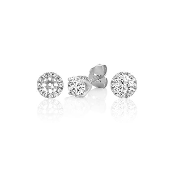 Diamond Earrings Jackets in 14k White Gold image