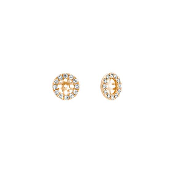 Diamond Earrings Jackets in 14k Yellow Gold