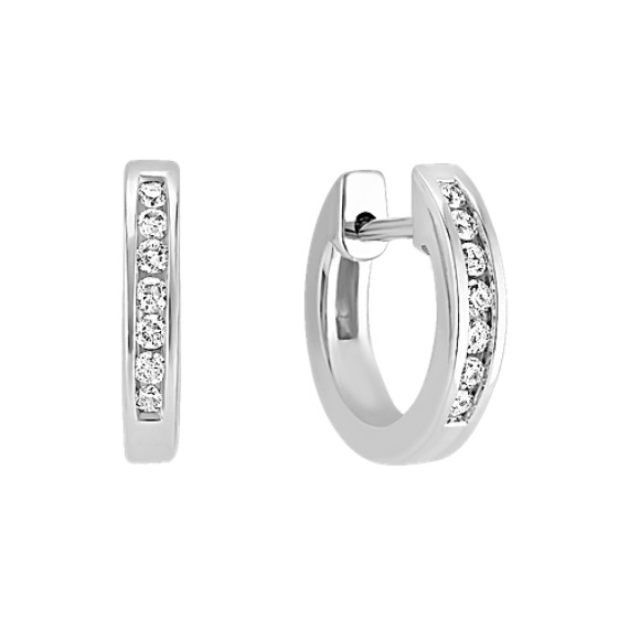 Diamond Hoop Earrings image