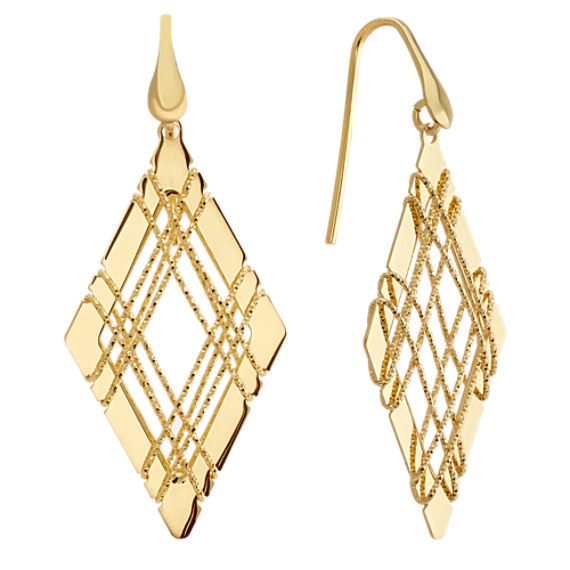 Geometric Wire Wrap Dangle Earrings