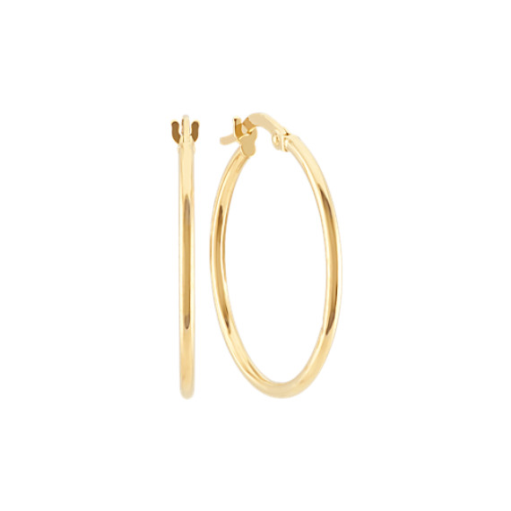 Hoop Earrings in 14k Yellow Gold