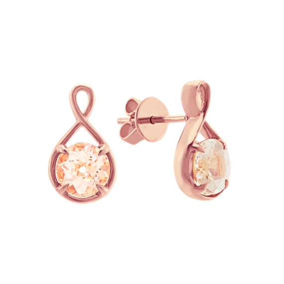 Infinity Morganite Earrings