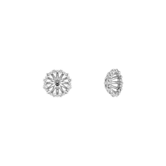 Layered Diamond Earring Jackets in 14k White Gold image