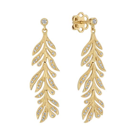 Leaf Diamond Earrings