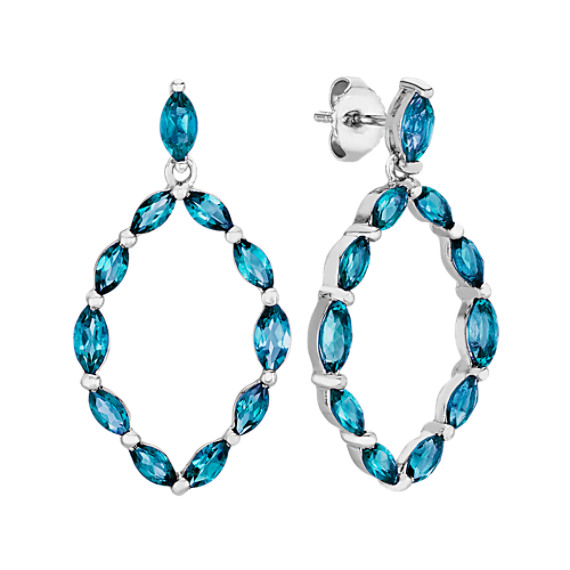 Marquise London Blue Topaz Earrings