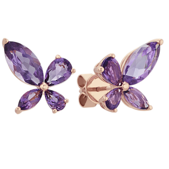 Marquise and Pear-Shaped Amethyst Earrings