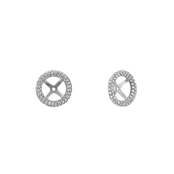 Pave-Set Diamond Round Earring Jackets