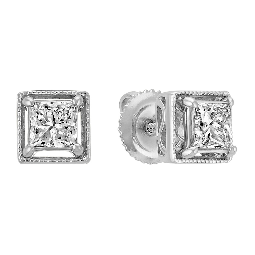 diamond wgpce princess a products cut earrings j stud inc