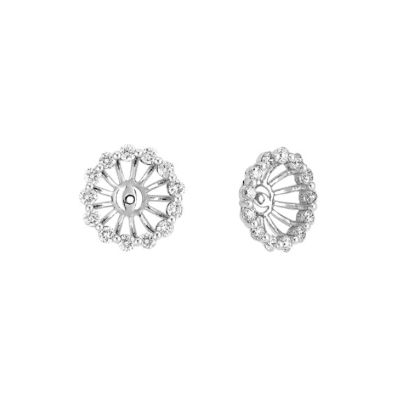 Round Diamond Basket Earring Jackets