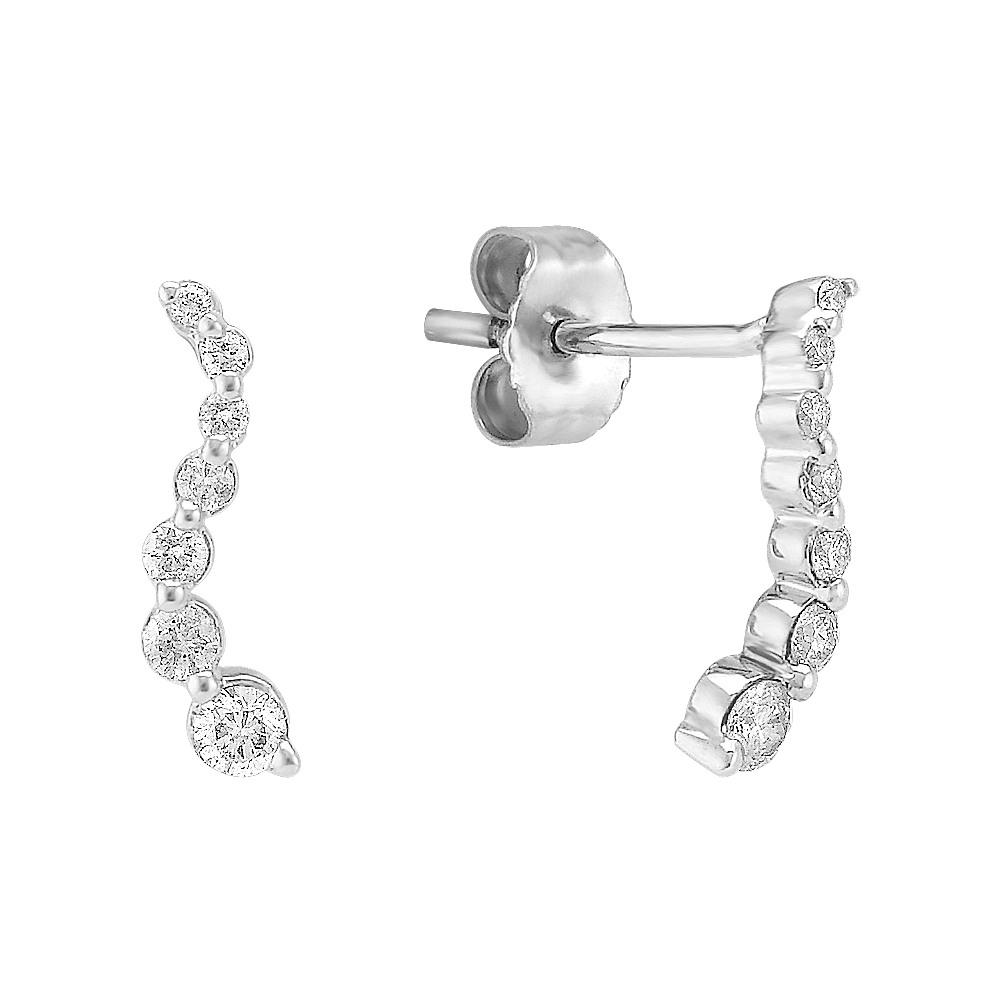 Round Diamond Journey Earrings