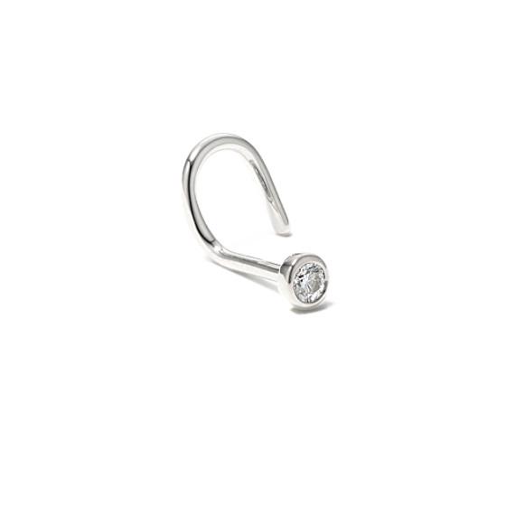 Round Diamond Nose Ring