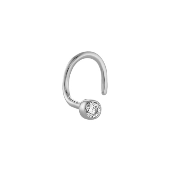 Round Diamond Nose Ring