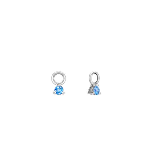 Round Kentucky Blue Sapphire Earring Jackets