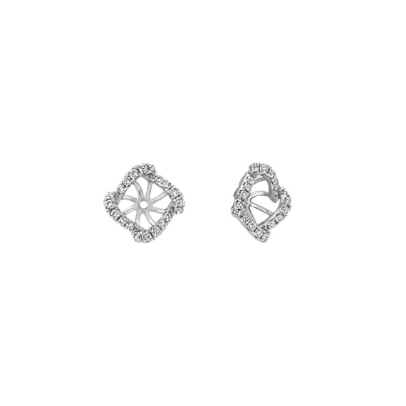 Square Swirl Diamond Earring Jackets
