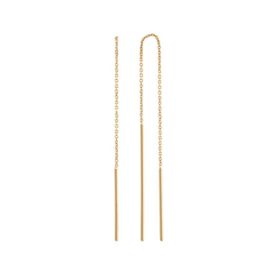 Threader Earrings In 14k Yellow Gold