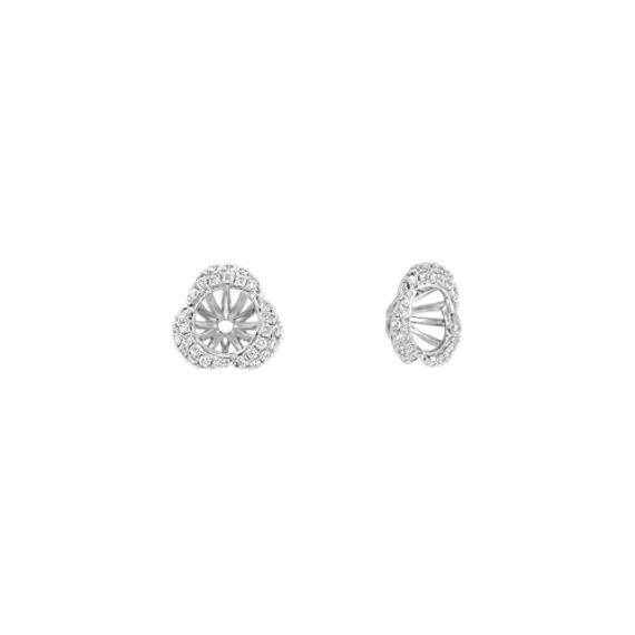 Three Petal Round Diamond Earring Jackets