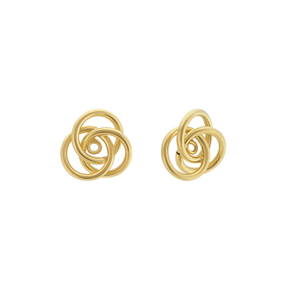 Trinity Circle Earring Jackets in 14k Yellow Gold