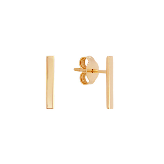 Vertical Bar Earrings in 14k Yellow Gold