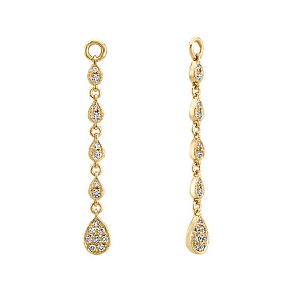 Vintage Dangle Diamond Earring Jackets