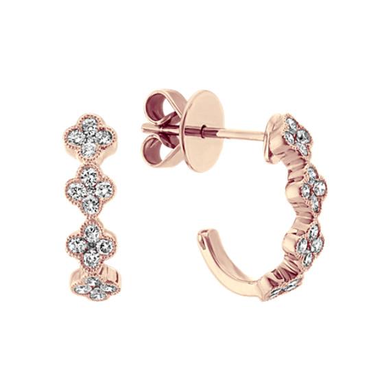 Vintage Diamond Earrings in 14k Rose Gold