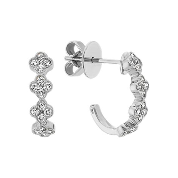 Vintage Diamond Earrings in 14k White Gold