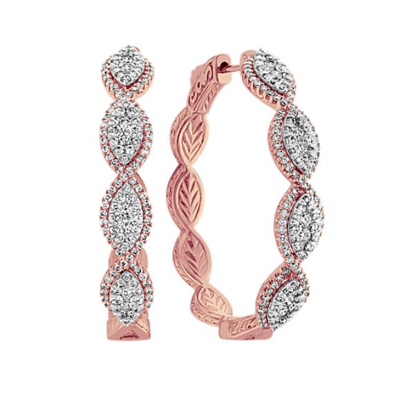 Vintage Diamond Hoop Earrings
