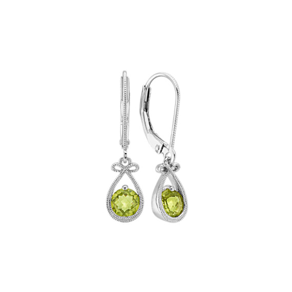 Vintage Green Peridot Dangle Earrings