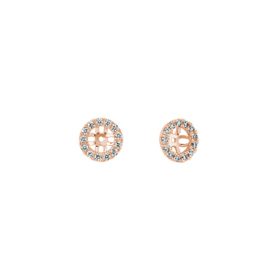 Diamond Earring Jackets in 14k Rose Gold