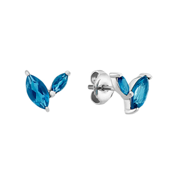 Marquise London Blue Topaz Earrings