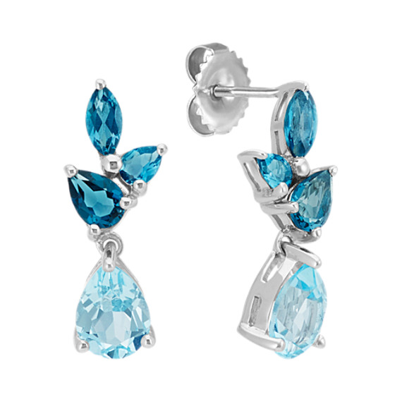 Sky Blue and London Blue Topaz Earrings