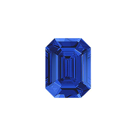 Emerald Cut Traditional Blue Sapphire