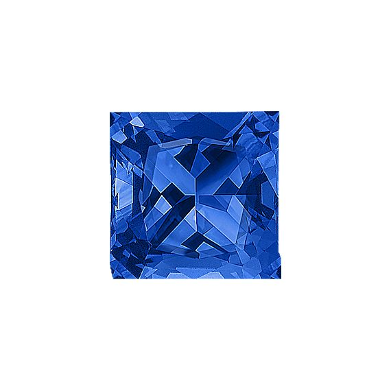 Princess Cut Traditional Blue Sapphire