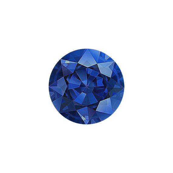 Round Traditional Blue Sapphire