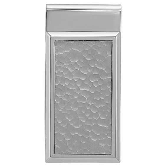 Stainless Steel Money Clip with Hammered Finish