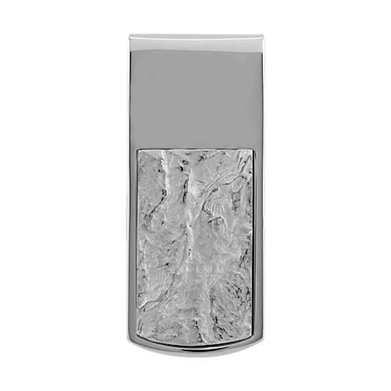 Textured Money Clip in Sterling Silver