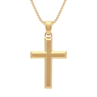 Shop mens cross necklaces and unique fine jewelry collections at 14k yellow gold cross necklace 24 in aloadofball Images