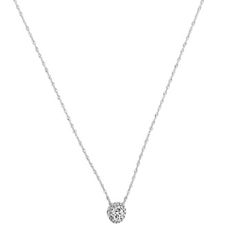 482e18a1967 Diamond Circle Necklace in 14k White Gold (18 in)